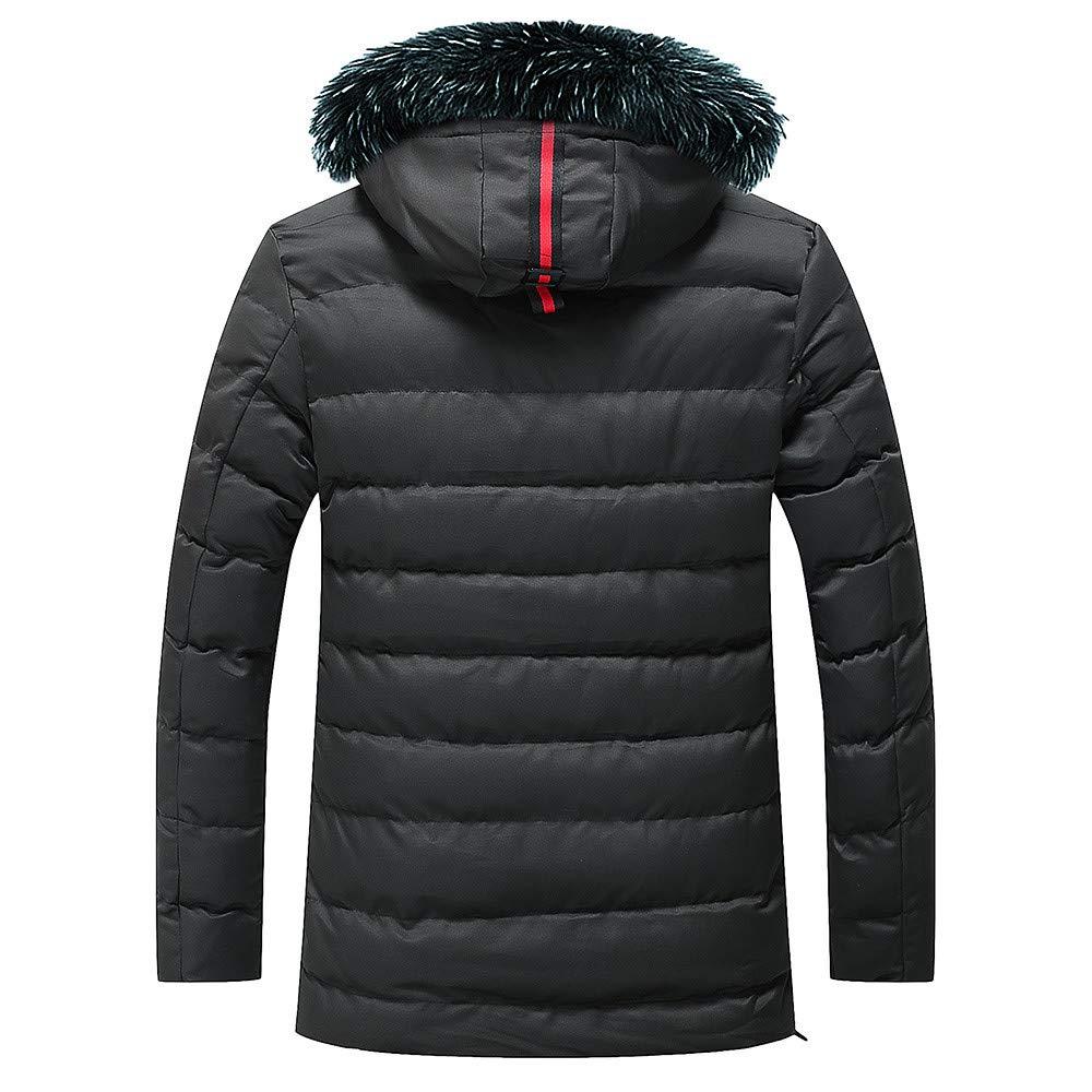 Hombres y niños invierno abrigo calentar con capucha peludo,Sonnena ⚽ invierno casual abrigo suave guapo hombre moda calle elegante al aire libre color ...