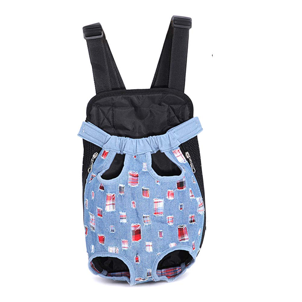 Fashioncowboy Small Fashioncowboy Small Pet Backpack,Legs Out Front-Facing Dog Carrier Backpack, Hands Free Adjustable Pet Dog Backpack Carrier for Walking Hiking Bike and Motorcycle (Wide Straps with Shoulder Pads)