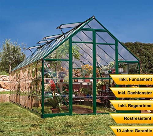 Palram aluminio Invernadero Jardín Casa Balance 410//607 X 244 x 229 cm (LxBxH); Invernadero & Tomate Casa para cultivo: Amazon.es: Jardín