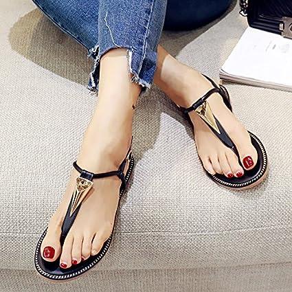 d4456c7b0b6a Image Unavailable. Image not available for. Color  SDKIR-Clip feet female  sandals larger women shoes ...