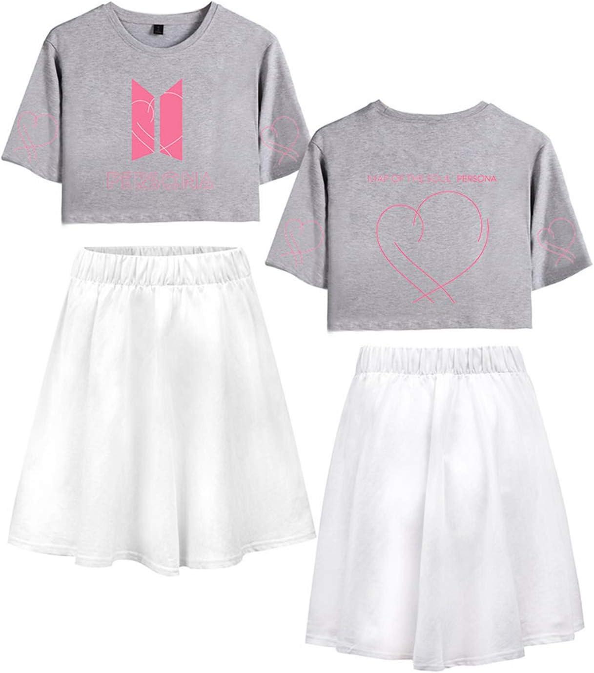 Yicool BTS - Falda de Camisa para niña con diseño de Mapa del Alma