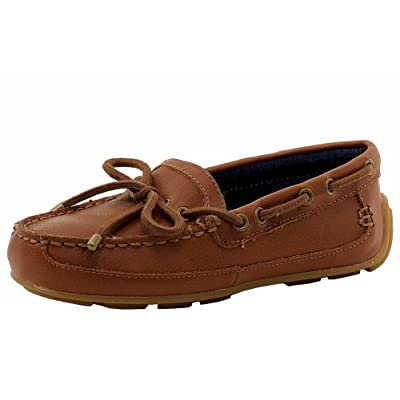 Vince Camuto Boy's Beacon Fashion Tan Slip-On Loafers Boat Shoes