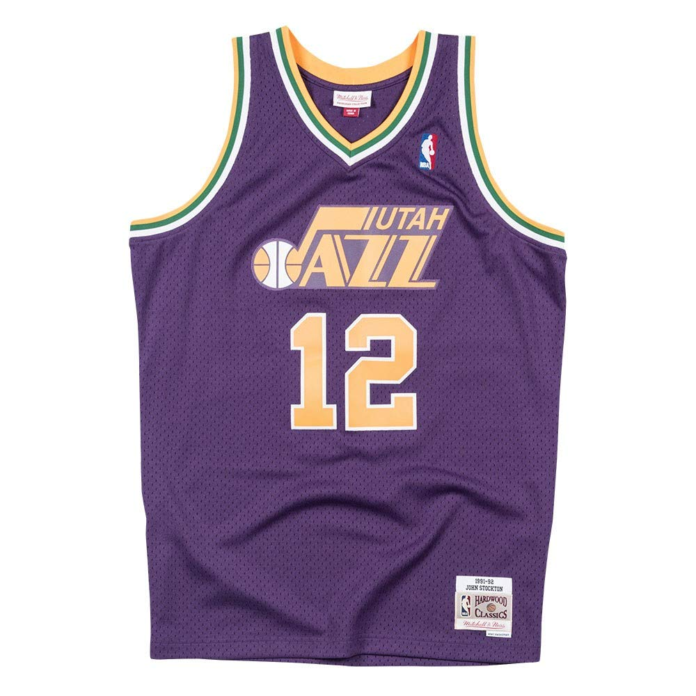 on sale 7317a c3dea aliexpress john stockton utah jazz 12 hardwood classic ...