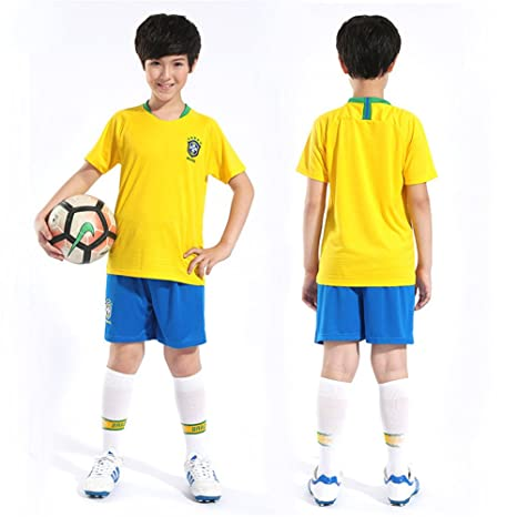 176277bd9 Joyee Brazilian Kids Soccer Jersey 2018 World Cup Champion Football Fan  Jersey