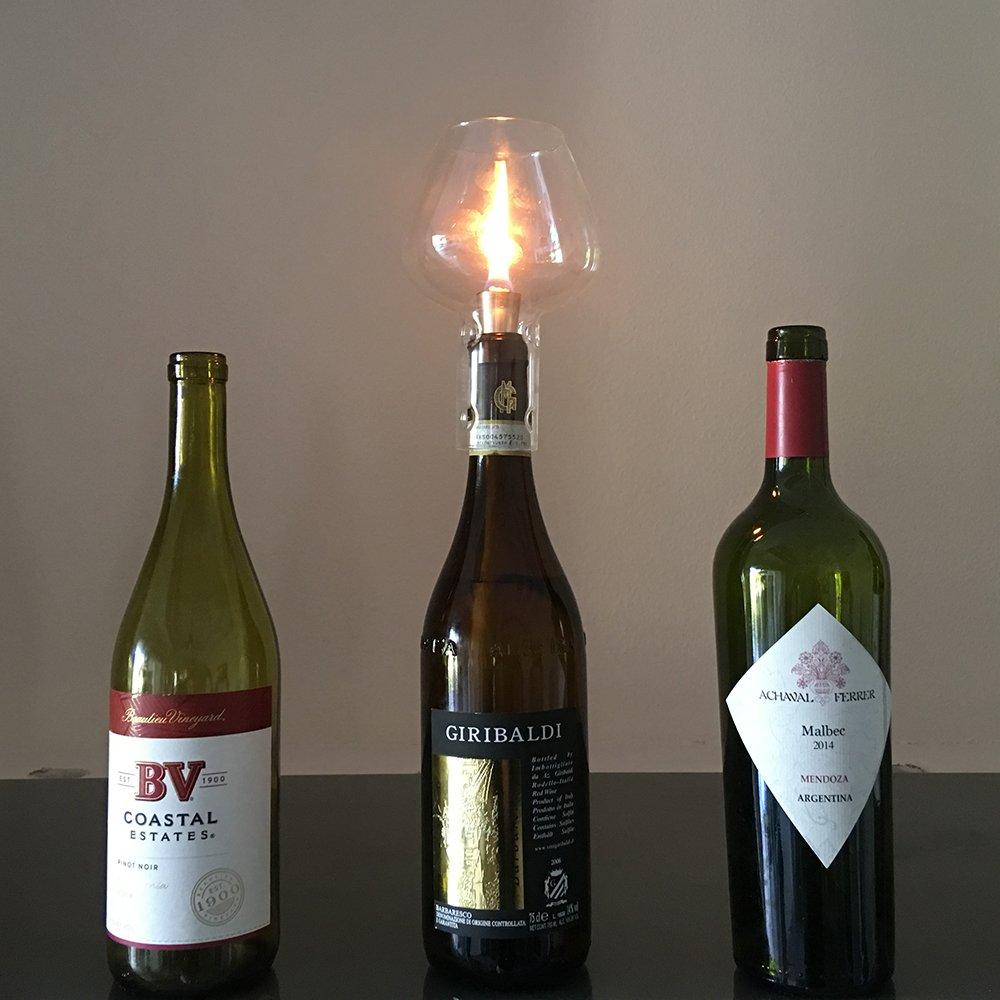 Firefly para botella de vino Kit de lámpara de aceite, 3/8