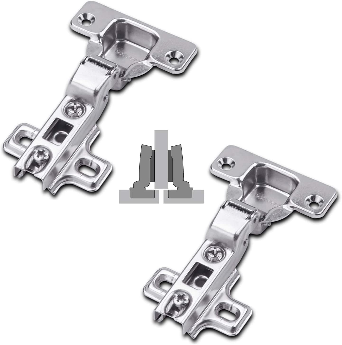 4x Bisagras de cazoleta rectas apertura 110/° para puerta de muebles C41037 AERZETIX