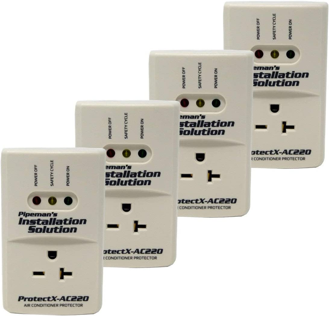 Pipeman s Installation Solution 4 Pack AC 220v Surge Brownout Voltage Protector 3600 Watts Freezer New Model