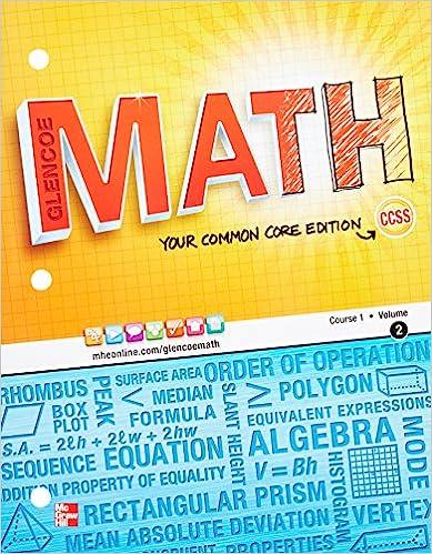 Amazon glencoe math course 1 student edition volume 2 glencoe math course 1 student edition volume 2 math applic conn crse 1st edition fandeluxe Images