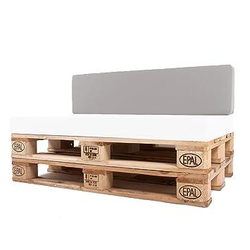 Arketicom Pallet One CHEOPE - Respaldo Cojin Sofa en Palet tejido OUTDOOR Impermeable y Desenfundable - interior Espuma ...