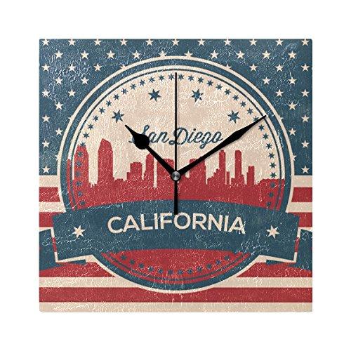 Franzibla Vintage American Flag California State San Diego S