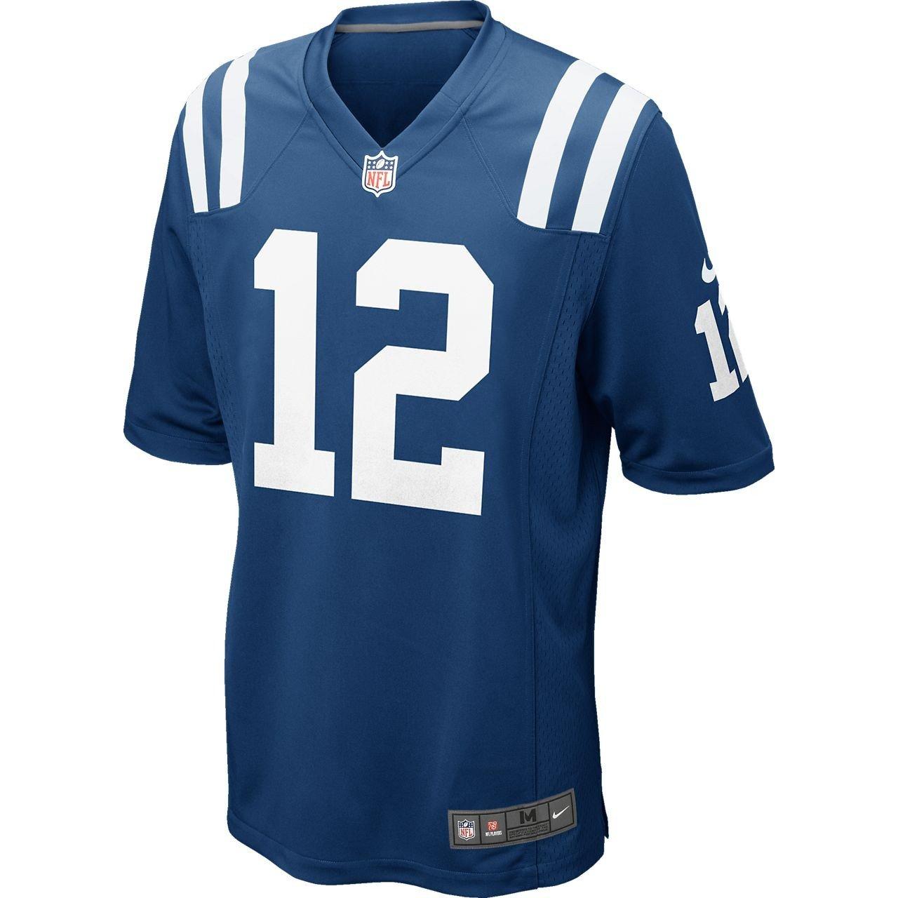 Nike NFL Indianapolis Colts Andrew Luck Jeu de Football Américain en Jersey pour Homme en Bleu