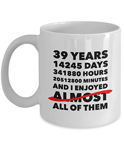 Amazon Funny 39th Anniversary Mug Wedding Day 39 Years