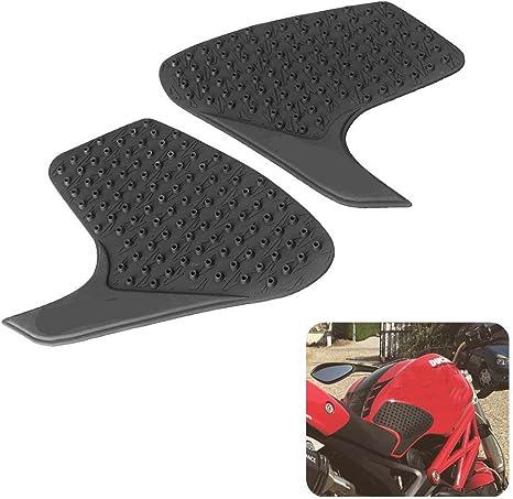 /2015 An Xin Lato adesivo antiscivolo moto serbatoio nero Traction Pad gas combustibile ginocchio grip Decal Protector adatto per Ducati 696/695/796/1100S 2000/