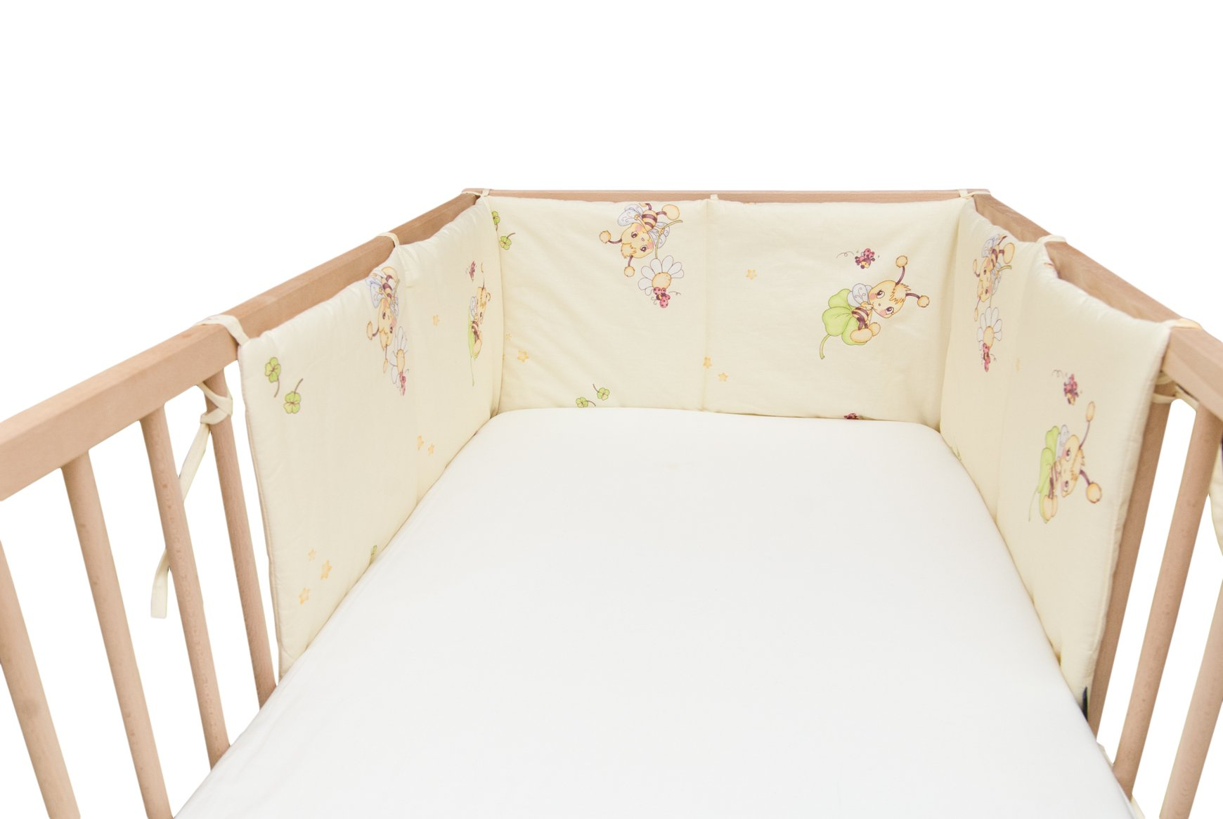 Baby Happy Bees / SoulBedroom Cotton Cot Bumper Pad Half (210x40 cm)