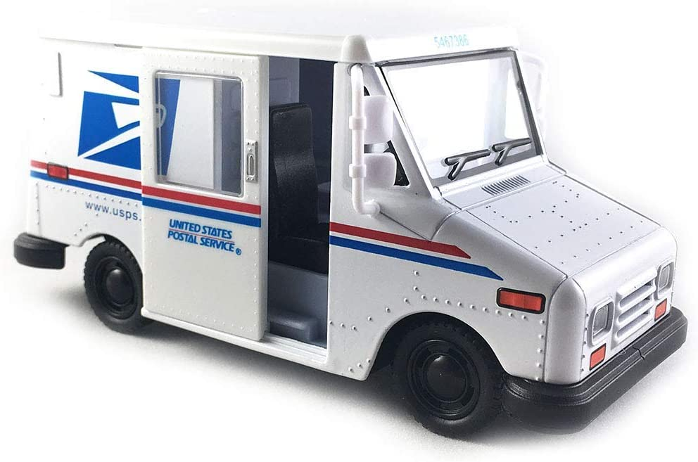 "KinsFun New DIECAST Toys CAR 1:36 Display 5"" USPS LLV 1 Item Without Retail Box KT5112D, Multi"