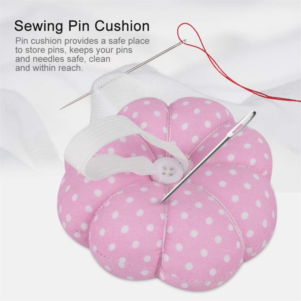 New Style Pumpkin Shaped Sewing Pin Cushion DIY Handcraft Tool Stitch Pincushions with Elastic Wrist Belt Sewing Accessories Kangsanli