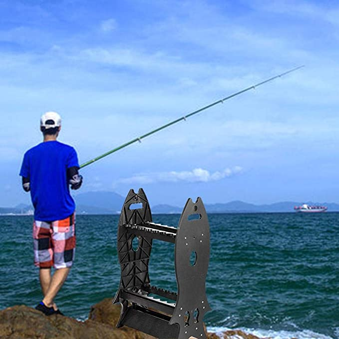 RV en casa o en garaje cami/ón 24/de aluminio bomba de soporte para ca/ñas de pescar port/átil pesca Rod estante Ideal para almacenamiento de bastones de pesca en barco