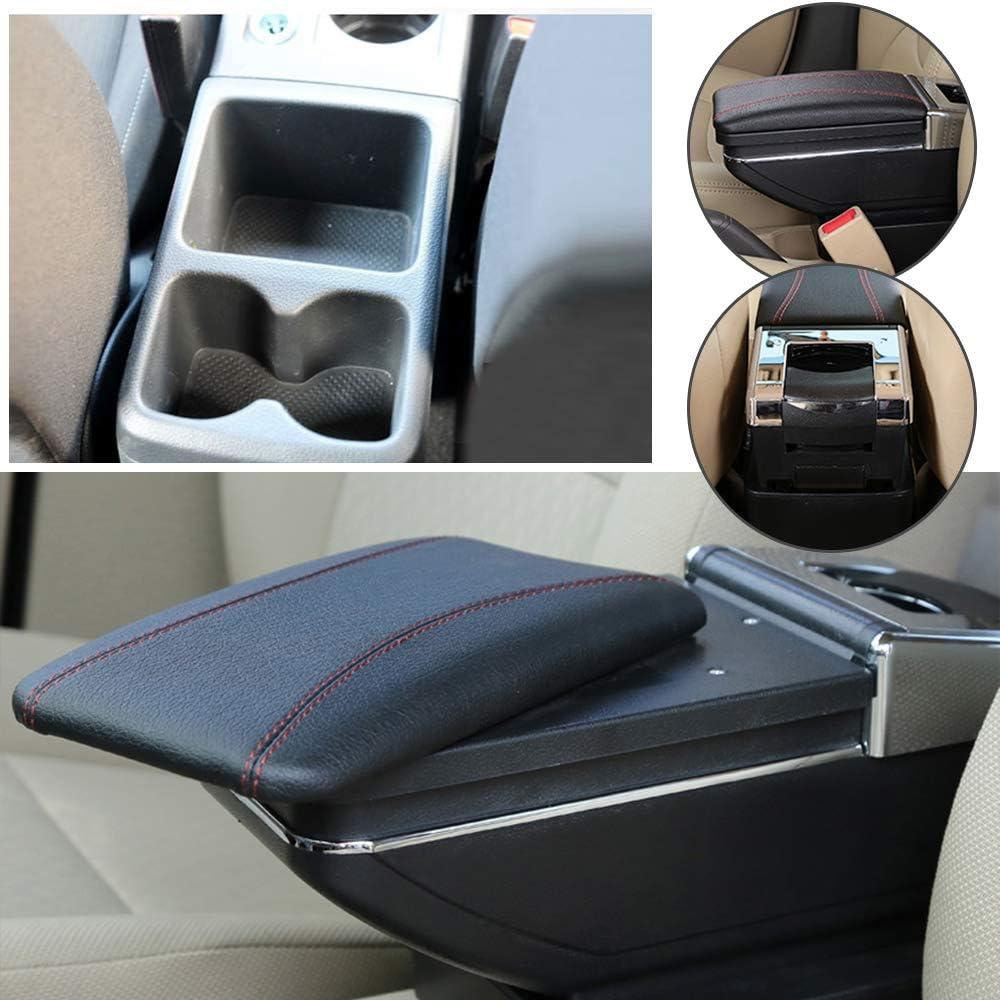 Yanhong Leder Auto Mittelarmlehne Box Für Volkswagen Vw Golf 7 2013 2017 Einschichtig Klassisch Auto Innenteile Armlehnen Aufbewahrungsbox Schwarz Auto