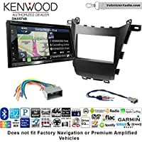 Volunteer Audio Kenwood DNX574S Double Din Radio Install Kit with GPS Navigation Apple CarPlay Android Auto Fits 2013-2016 Honda Accord