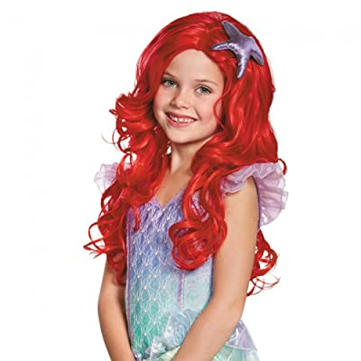 Ariel Ultra Prestige Child Disney Princess The Little Mermaid Wig, One Size Child: Toys & Games