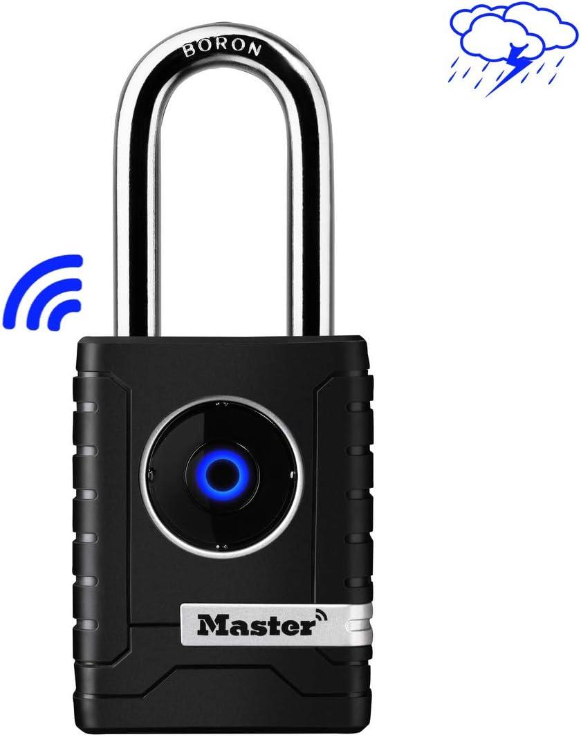 MASTER LOCK Candado Bluetooth [Compatible con Smartphone] [Archo L] [Estanco] 4401EURDLH - Ideal para Portales, Garages, Sótanos