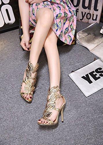 Tacón Mujer Alto Para Sandalias Segundo De Metálicas Hyw RBtqxYq