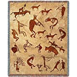 Pure Country Inc. Kokopelli Petroglyphs Tapestry Throw Blanket