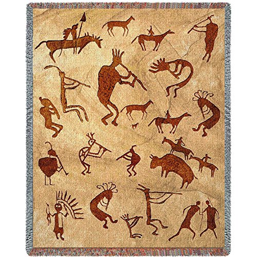 Pure Country Inc. Kokopelli Petroglyphs Tapestry Throw Blanket by Pure Country