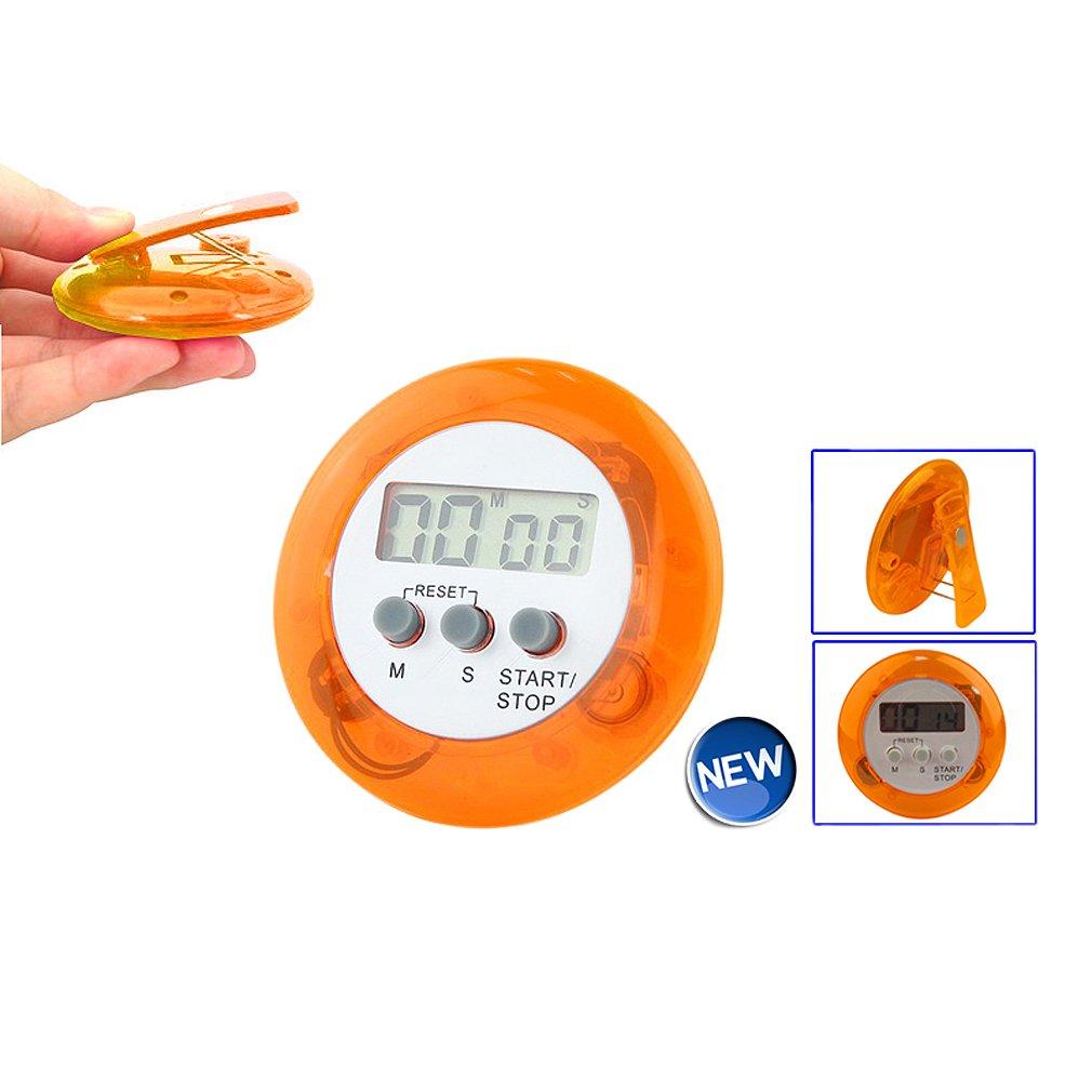 Sonline Digital Magnetique LCD Chronographe Montre a Arret Cuisine Culinaire Comptage Decroissant - Orange