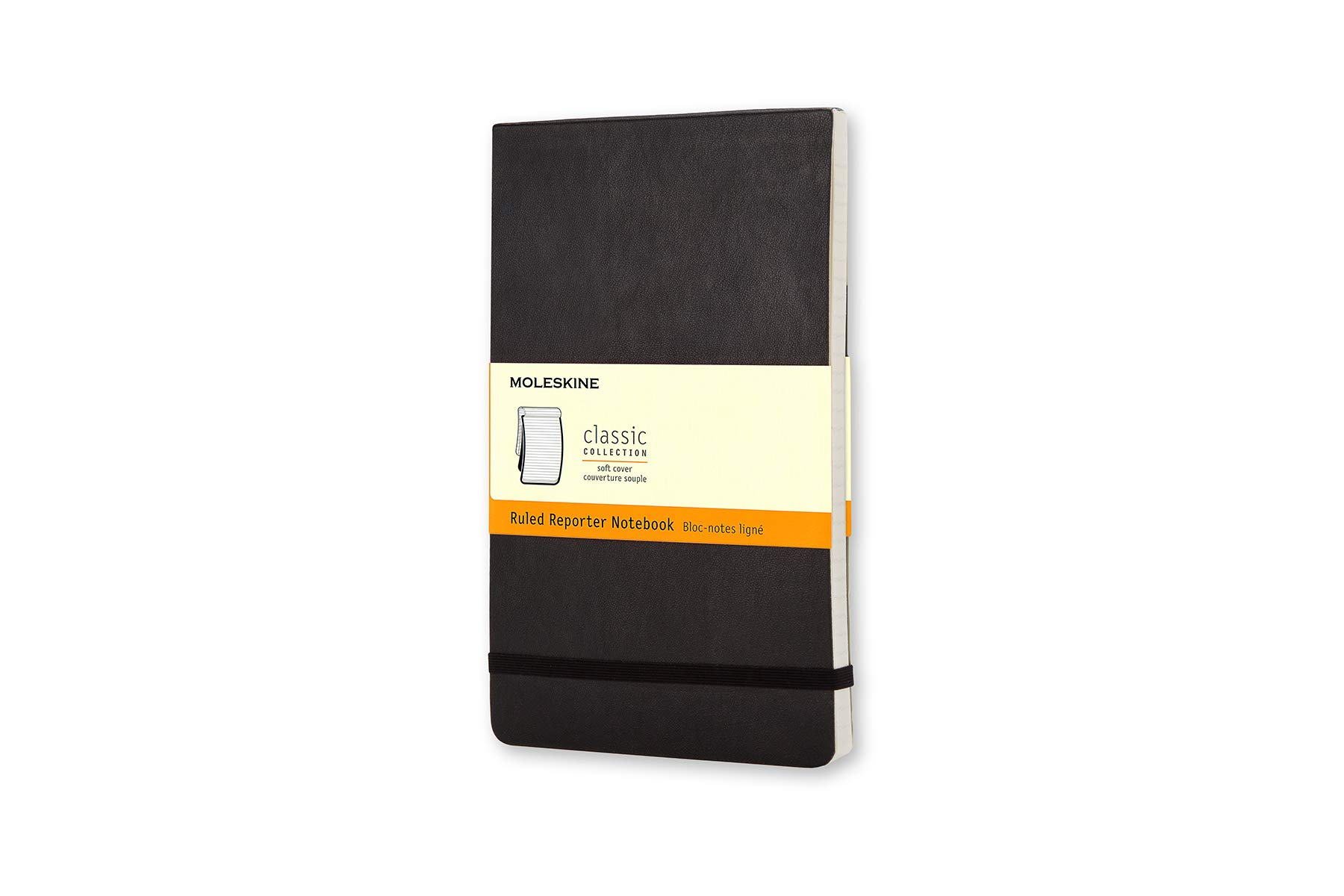 Moleskine Classic Soft Cover Reporter Notebook, Ruled,...