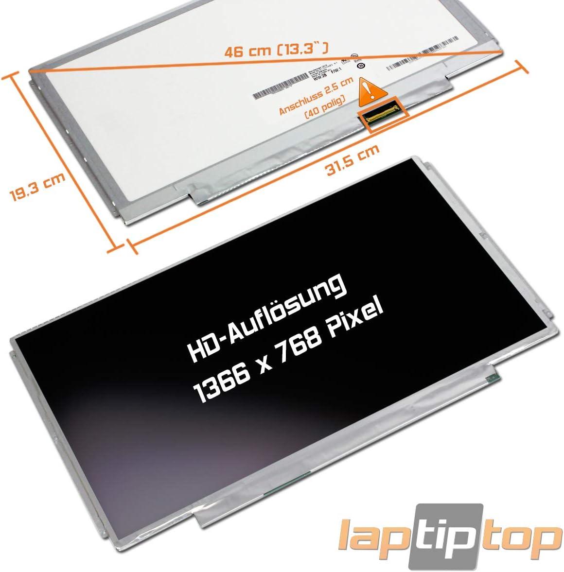 Laptiptop 13,3 LED Display Screen matt Ersatz f/ür LTN133AT30-401 HD 1366x768 40pin Bildschirm Panel