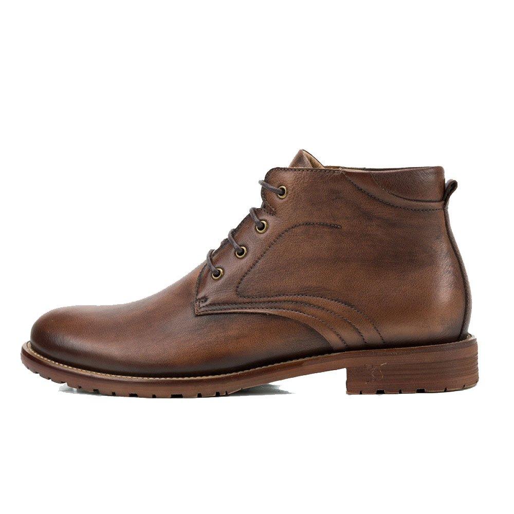 LYZGF Herren British Four Seasons Martin Stiefel Lässige Mode Jugend Schnürsenkel Lederstiefel