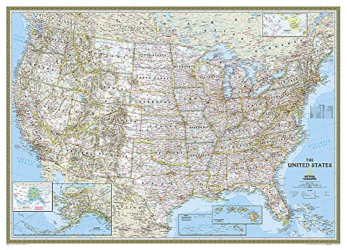 (National Geographic: United States Classic Mural Wall Map (106 x 73.75 inches) (National Geographic Reference Map))