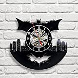 Batman Art Vinyl Wall Clock Gift Room Modern Home Record Vintage Decoration