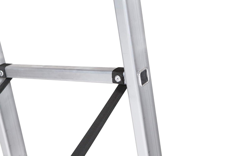 ALTIPESA Escalera Profesional de Aluminio Triple Tijera un Acceso con Tramo Extensible 3 x 11 pelda/ños Serie Triple