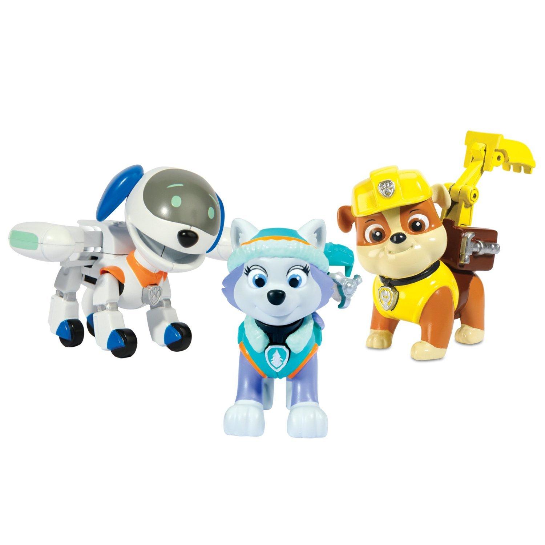 precio al por mayor Spin Master Paw Patrol Action 3-Pack ROBODOG + + + Everest + Rubble Pup Set 3 Figuras Acción La Patrulla Canina  sin mínimo