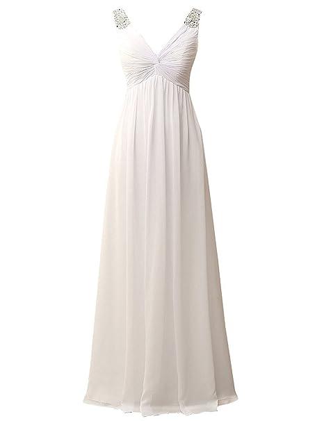 JAEDEN Mujer Cuello en V Vestidos de novia Largo Gasa Sirena Vestido de boda con lentejuelas