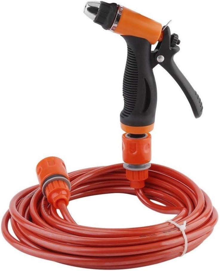 Bomba de agua portátil de alta presión autocebante de lavado eléctrico 12V Lavadora de autos Lavadora con cable para encendedor de cigarrillos