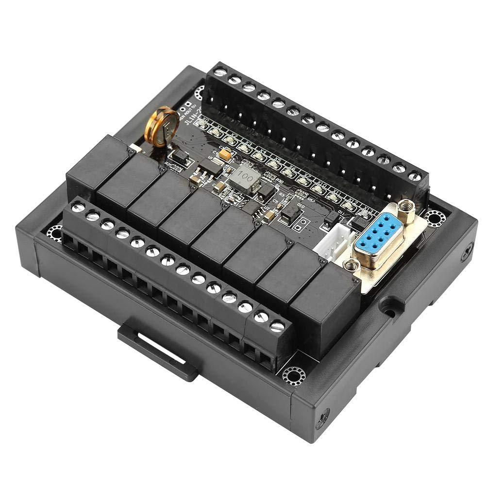 DC 24V PLC Regulator Controller Industrial Control Board PLC Programmable Logic Controller Shell Delay Relay Module FX1N-20MR PLC Motor Controller