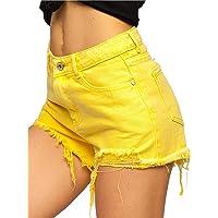 BOLF Mujer Pantalón Corto Vaquero Jeans Denim Shorts Bermudas Pantalón de Algodón Pantalón de Ocio Corto Rotos Tejano…