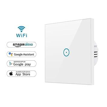 Alexa Lichtschalter, WLAN Smart Lichtschalter SmartPhone Fernbedienung Funkschalter Kein Hub erforderlich,Funktioniert mit Alexa [Echo, Echo Dot] und ...
