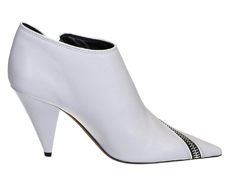 - Céline Women's 322053NZP01BP Grey Leather Ankle Boots