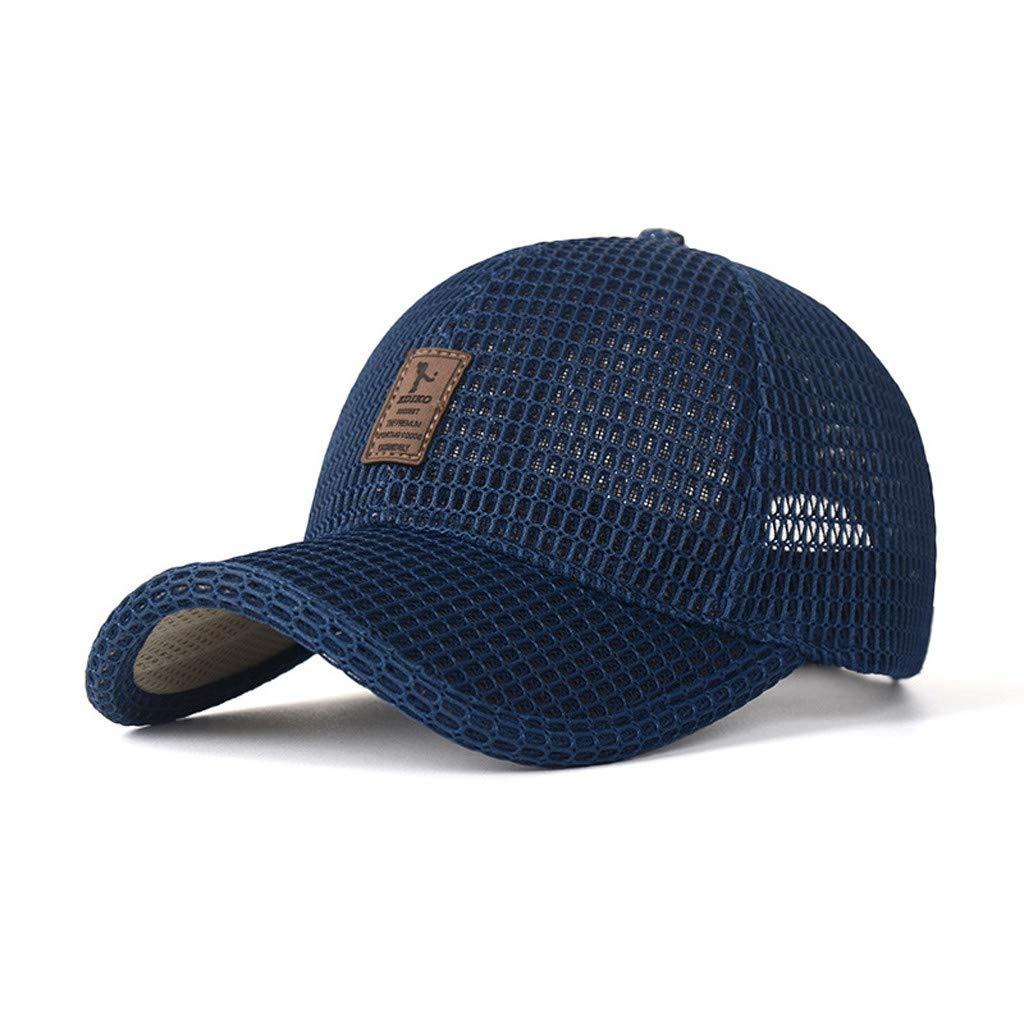 Baohooya Gorra de B/éIsbol para Hombre Mujer Ajustable Gorras de Malla Sombra de Sol Sombreros Deportivo Al Aire Libre