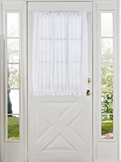 Stylemaster Home Products Elegance Voile Door Panel, 60 By 40 Inch, White