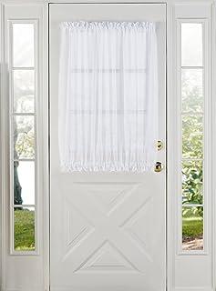 Stylemaster Elegance Sheer Voile Door Panel 60  x 40u201d ... & Amazon.com: SASH CURTAIN ROD FOR DOOR PANELS #830 - 20