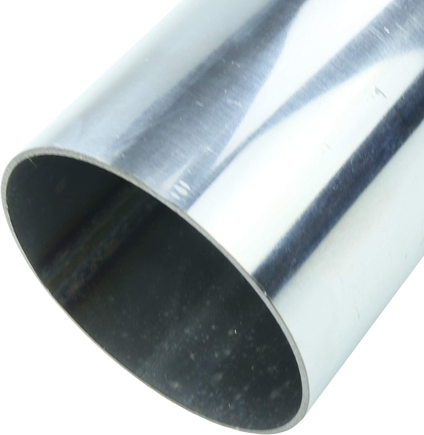 TOTALFLOW 20 Inch Length 20-304-201-15 Universal Straight Exhaust Pipe Extension 304 Stainless Steel-Tube Replacement 2 Inch-OD