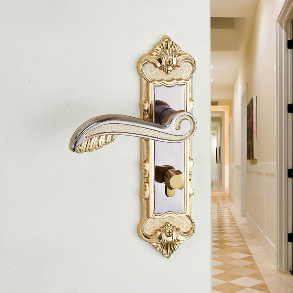 Daeou Aluminum Interior Door Handle Lock Bedroom Door Locks Mechanical Locks Engineering Lock
