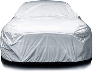 """iCarCover {3-Year Full Warranty} All-Weather Waterproof Snow UV Heat Protection Dust Scratch Resistant Windproof Weatherproof Breathable Automobile Indoor Outdoor Auto Car Cover - for Cars Up to 193"""""""