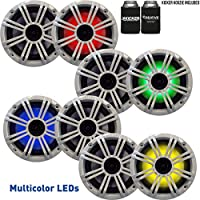Kicker 6.5 White LED Marine Speakers (QTY 8) 4 pairs of OEM replacement speakers