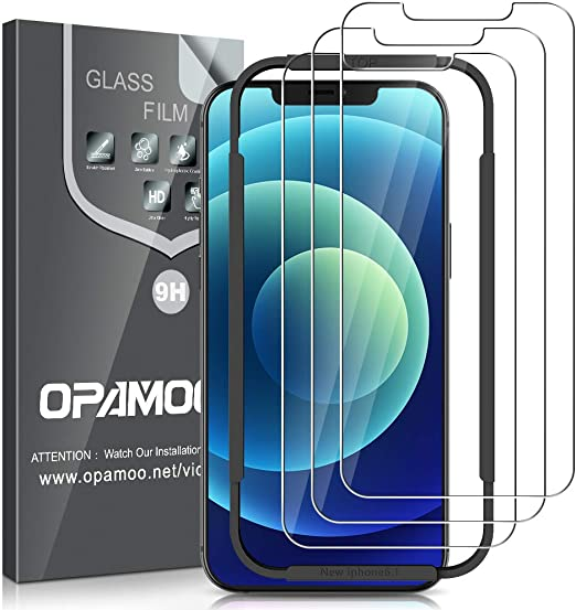 HD Clear Anti-Scratch Bubble Free UniqueMe Screen Protector Compatible with iPhone 12 Pro Max 5G 6.7 inch Tempered Glass【NOT for iPhone 12 Pro】 Easy Installation Frame 3 Pack
